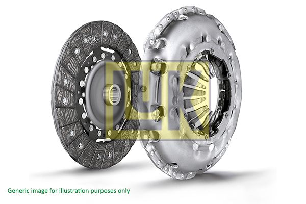 Купете 624 3742 09 LuK за двигатели с двумасов маховик, с диск за съединителя, без аксиален лагер, необходим е специален инструмент за монтаж, проверка на двумасов маховик, респективно подмяна Ø: 240мм Комплект съединител 624 3742 09 евтино