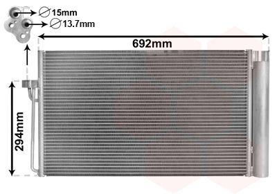 VAN WEZEL: Original Kondensator Klimaanlage 06005273 ()