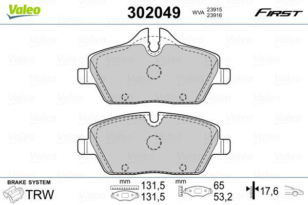 302049 Bremsbelagsatz VALEO - Markenprodukte billig