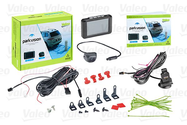 Купете 632210 VALEO с камера, без датчик, 1,5ч., 12волт, отзад, без заглушаване на радиото, Опционално активиране чрез ключ, активиране чрез задна скорост дисплей: TFT-Thin-film transistor Камера за задно виждане, паркинг асистент 632210 евтино