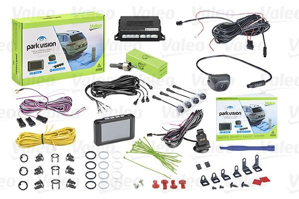 632211 VALEO 12V, Black, Mat, with camera, with sensor, 3Hrs., Rear, with acoustic warn function, with radio muting, Activation optional through switch, Activation through reverse gear Screen Display: TFT, Range from: 0,1m, Range to: 1,7m Rear view camera, parking assist 632211 cheap