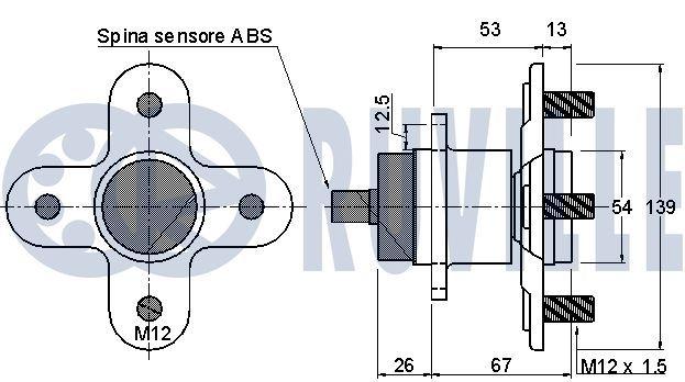 Articulación axial barra de acoplamiento 926831 RUVILLE — Solo piezas de recambio nuevas