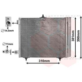 Condensador clima radiador climatizador 420x374x16 mm citroen