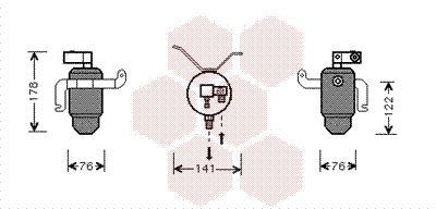 PEUGEOT Déshydrateur climatisation d'Origine 0900D183
