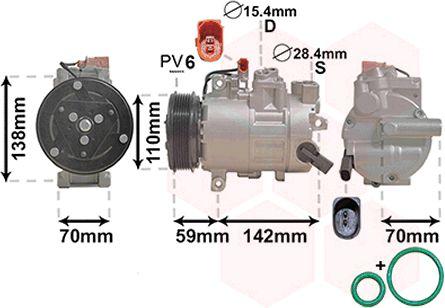 VAN WEZEL Klimakompressor 0300K402