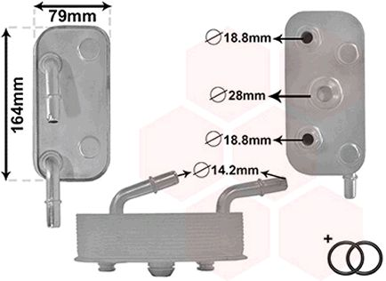 VAN WEZEL Ölkühler, Automatikgetriebe 06003559