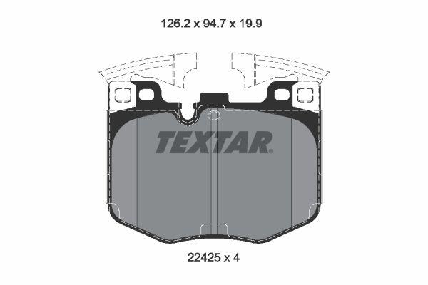 Bremsklötze BMW 3 Touring Van (G21) hinten + vorne 2021 - TEXTAR 2242501 (Höhe: 94,7mm, Breite: 126,2mm, Dicke/Stärke: 19,9mm)