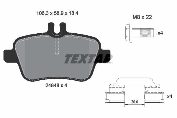 Bremsbelagsatz TEXTAR 2484805