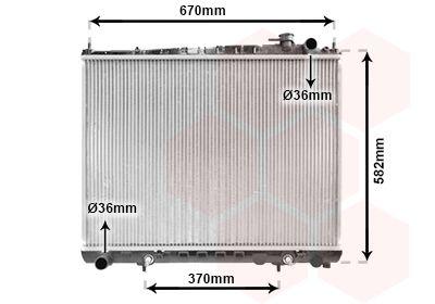 Van Wezel 3002122 radiador de refrigeraci/ón del Motor