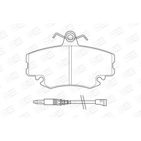 571526CH CHAMPION Vorderachse, inkl. Verschleißwarnkontakt Breite: 65mm, Dicke/Stärke: 18mm Bremsbelagsatz, Scheibenbremse 571526CH günstig kaufen