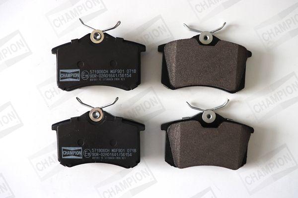 571906CH CHAMPION Hinterachse, nicht für Verschleißwarnanzeiger vorbereitet Breite: 53mm, Dicke/Stärke: 17mm Bremsbelagsatz, Scheibenbremse 571906CH günstig kaufen