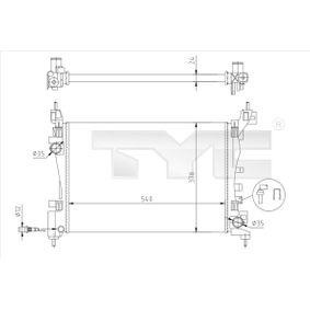 725-0044-R TYC Kühlrippen mechanisch gefügt Netzmaße: 540x378x23 [mm] Kühler, Motorkühlung 725-0044-R günstig kaufen