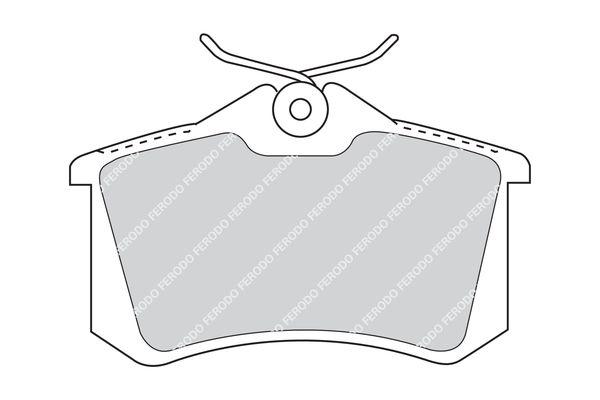 FDB5026 Bremssteine FERODO in Original Qualität