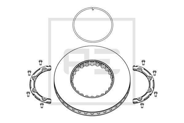 PETERS ENNEPETAL Bremsscheibe für RENAULT TRUCKS - Artikelnummer: 146.222-00A