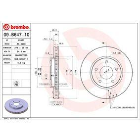 09.B647.11 Bromsskiva BREMBO - Billiga märkesvaror