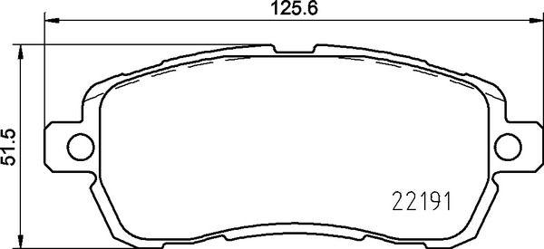 D19618653 BREMBO exkl. Verschleißwarnkontakt, mit Anti-Quietsch-Blech, mit Bremssattelschrauben, mit Zubehör Höhe: 51,5mm, Breite: 125,6mm, Dicke/Stärke: 16,5mm Bremsbelagsatz, Scheibenbremse P 24 203 günstig kaufen