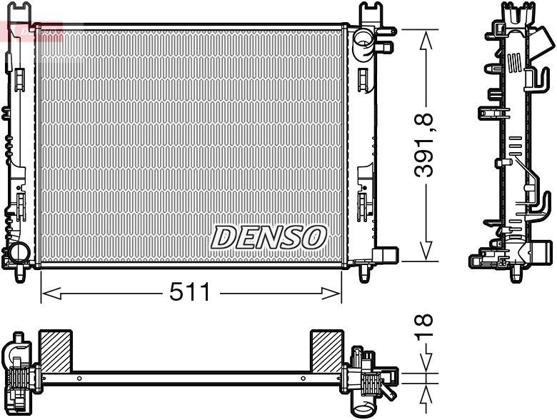 DRM37002 DENSO Kühler, Motorkühlung DRM37002 günstig kaufen