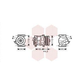 1700K330 VAN WEZEL Kältemittel: R 134a Anzahl der Rillen: 5 Kompressor, Klimaanlage 1700K330 günstig kaufen