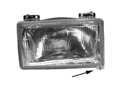 VAN WEZEL: Original Scheinwerfer 1745947 (Links-/Rechtsverkehr: für Rechtsverkehr, Fahrzeugausstattung: für Fahrzeuge ohne Leuchtweiteregelung)