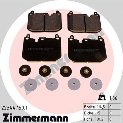 Bremsbelagsatz ZIMMERMANN 22344.150.1
