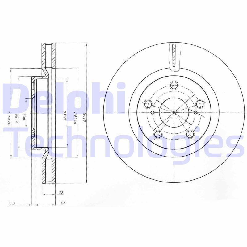 Bremsscheibe DELPHI BG4114C