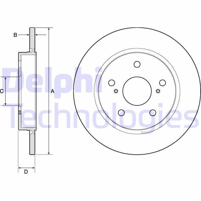 Bremsscheiben DELPHI BG4183C