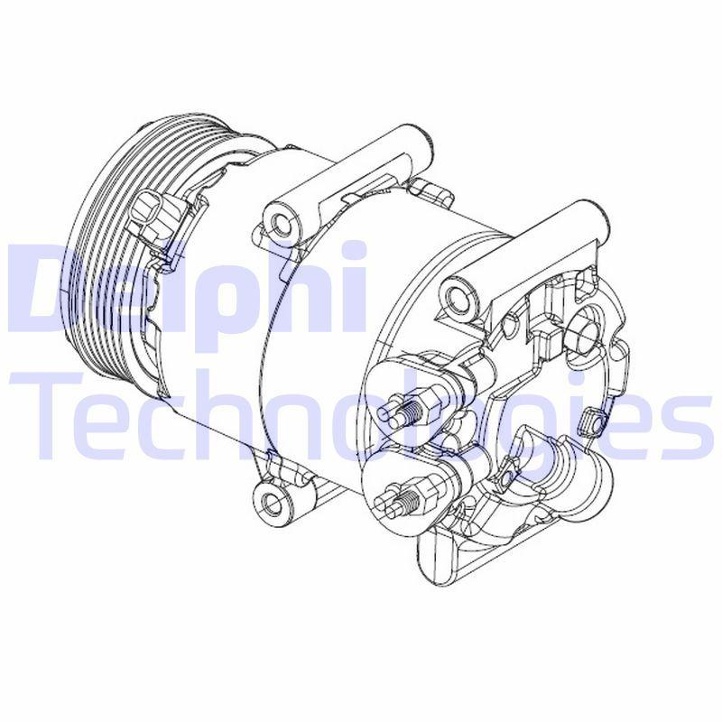 Kompressor Klimaanlage DELPHI CS20324