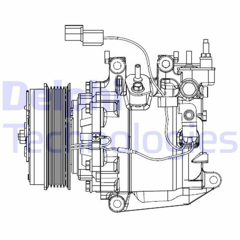 Original HONDA Kompressor Klimaanlage CS20503