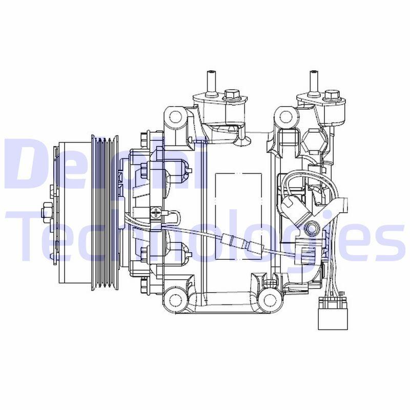 Original HONDA Klimakompressor CS20515