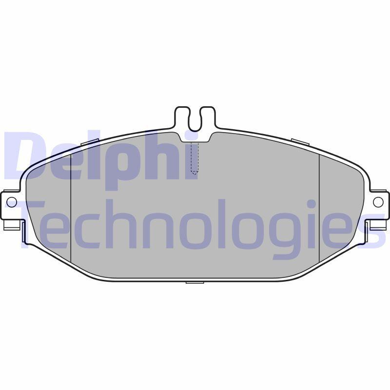 DELPHI Bremsbelagsatz, Scheibenbremse LP3282