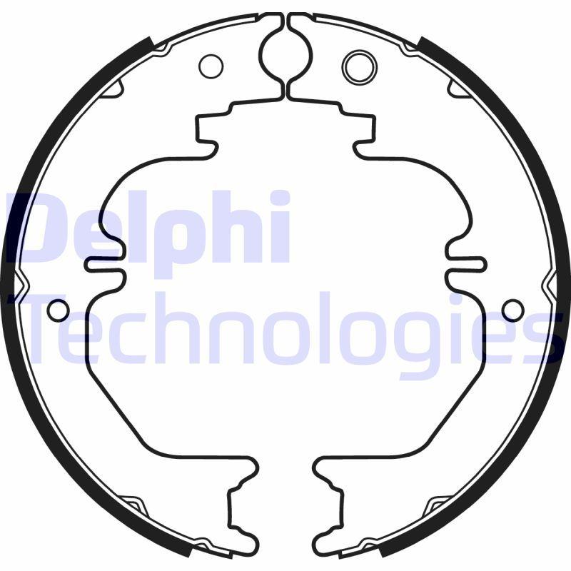 DELPHI: Original Bremsklötze für Trommelbremse LS2132 (Breite: 45mm)