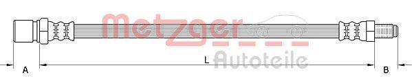 Bremsschläuche METZGER 4111548