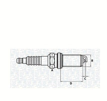 CT5KMMR11 MAGNETI MARELLI mit Flachsitz E.A.: 1mm, Gewindemaß: M14 Zündkerze 062000777304 günstig kaufen