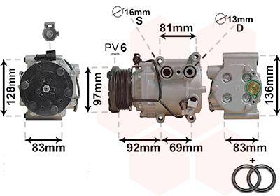VAN WEZEL Klimakompressor 1800K171