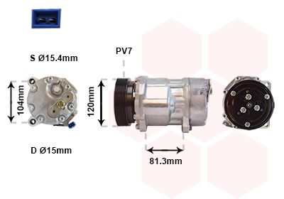 VAN WEZEL Klimakompressor 1800K267