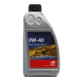 VW50500 FEBI BILSTEIN 0W-40, 1l, Óleo sintético Óleo do motor 101140 comprar económica