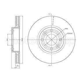 23-0641C METELLI belüftet, lackiert Ø: 260,0mm, Lochanzahl: 4, Bremsscheibendicke: 22,0mm Bremsscheibe 23-0641C günstig kaufen