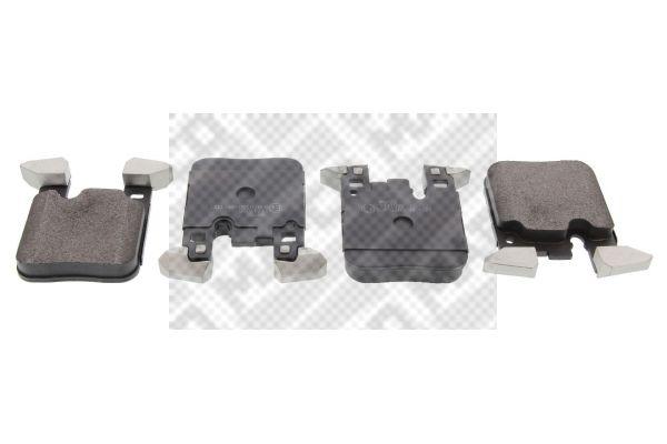 6638 MAPCO Hinterachse, für Verschleißwarnanzeiger vorbereitet, mit Anti-Quietsch-Blech Höhe: 94,5mm, Breite: 73,5mm, Dicke/Stärke: 16,7mm Bremsbelagsatz, Scheibenbremse 6638 günstig kaufen