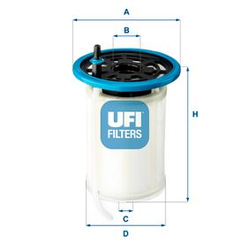 fuel filter 26 h2o 00 with an exceptional ufi price-performance ratio