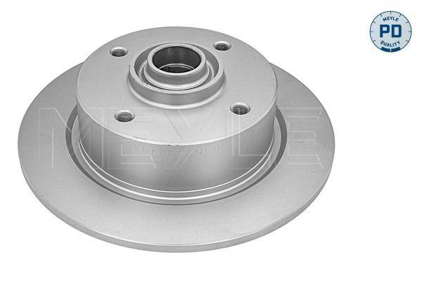 Achetez Disque de frein MEYLE 115 521 1124/PD (Ø: 277,6mm, Nbre de trous: 4, Épaisseur du disque de frein: 9,5mm) à un rapport qualité-prix exceptionnel