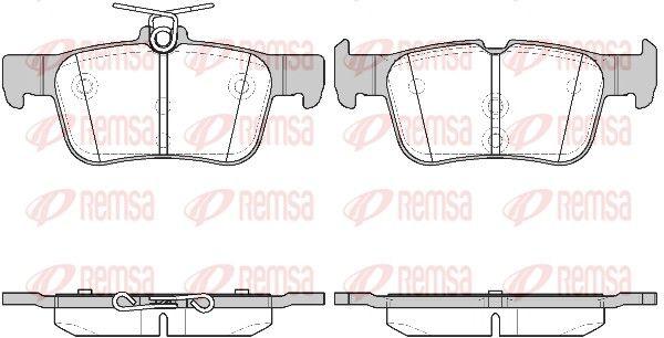 25799 REMSA Hinterachse, mit Klebefolie, mit Feder Höhe: 48,6mm, Dicke/Stärke: 16mm Bremsbelagsatz, Scheibenbremse 1551.42 günstig kaufen