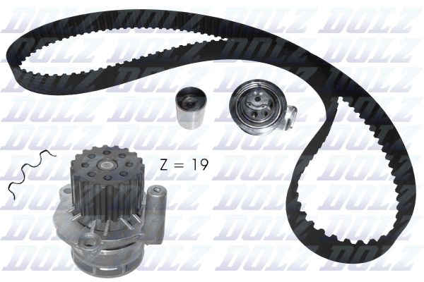 DOLZ Water pump and timing belt kit KD105