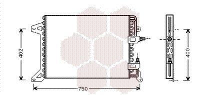 28005034 VAN WEZEL Kondensor, klimatanläggning: köp dem billigt