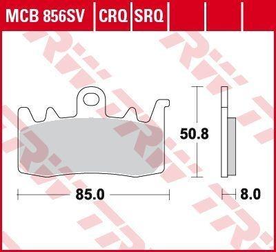 MCB856CRQ TRW Hyper Carbon Racing Höhe: 50,8mm, Dicke/Stärke: 8mm Bremsbelagsatz, Scheibenbremse MCB856CRQ günstig kaufen