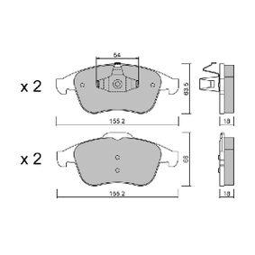 BPRE-1019 AISIN nicht für Verschleißwarnanzeiger vorbereitet Höhe 1: 63,5mm, Höhe 2: 68mm, Breite 1: 155,2mm, Dicke/Stärke 1: 18mm Bremsbelagsatz, Scheibenbremse BPRE-1019 günstig kaufen
