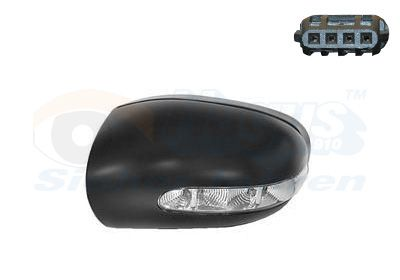 Mercedes E-Class 2014 Cover, outside mirror VAN WEZEL 3041841: Left, Primed, with indicator, with position light
