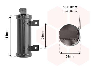 Trockner Klimaanlage VAN WEZEL 3700D282