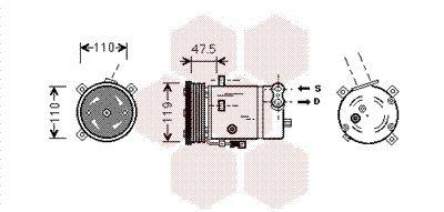Original OPEL Kompressor 3700K277