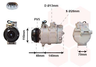 VAN WEZEL Klimakompressor 3700K356