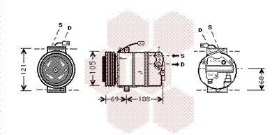 Original OPEL Klimakompressor 3700K373